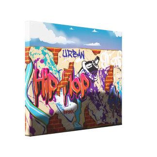 Graffiti ummauern mit Sport-Auto-Schatten Gespannter Galeriedruck