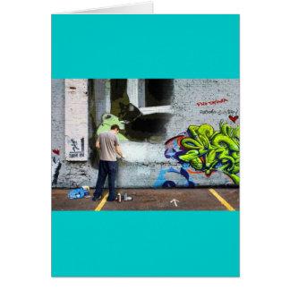 Graffiti-Wand Lucy Karte