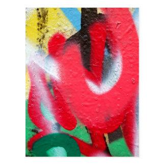 Graffitifarbenschichten Postkarte
