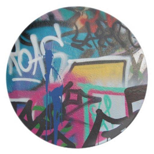 Graffitifleck- Hintergrund Party Teller
