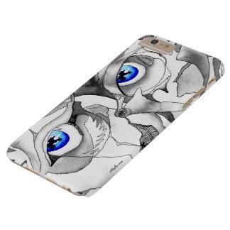 Graffitikunst der blauen Augen Barely There iPhone 6 Plus Hülle