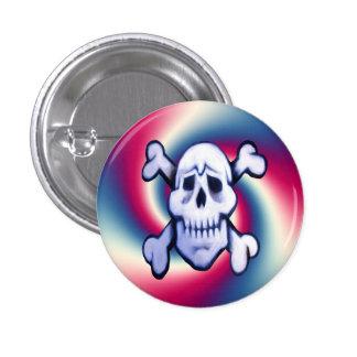 Graffitischädel auf rundem Knopf des Retro Runder Button 2,5 Cm