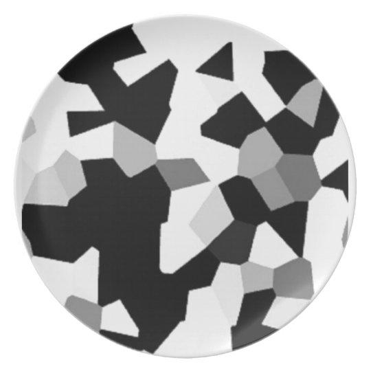 Grafik auf einer Platte Teller