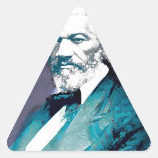 Grafik-Depot - Frederick Douglass Porträt Dreieckiger Aufkleber