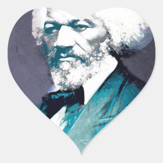 Grafik-Depot - Frederick Douglass Porträt Herz-Aufkleber