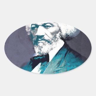 Grafik-Depot - Frederick Douglass Porträt Ovaler Aufkleber