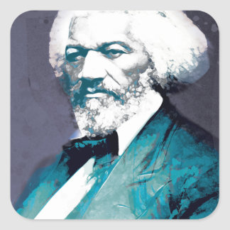 Grafik-Depot - Frederick Douglass Porträt Quadratischer Aufkleber