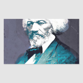 Grafik-Depot - Frederick Douglass Porträt Rechteckiger Aufkleber