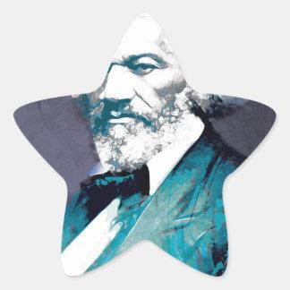 Grafik-Depot - Frederick Douglass Porträt Stern-Aufkleber