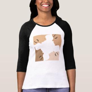 Grafik, die Einheit unter schönen Frauen zeigt T-Shirt