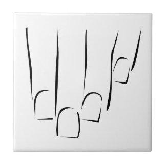 Grafik, die Nagelsorgfalt oder -maniküre zeigt Keramikfliese