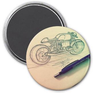 Grafik durch Sudesh Dwivedi Runder Magnet 7,6 Cm