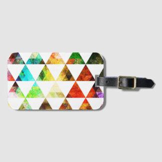 Grafik gemalter Dreieck-Entwurf Kofferanhänger