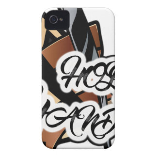 Grafik geraden Rasiermessers Browns iPhone 4 Cover