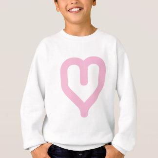 Grafik Herz-rosa Sweatshirt