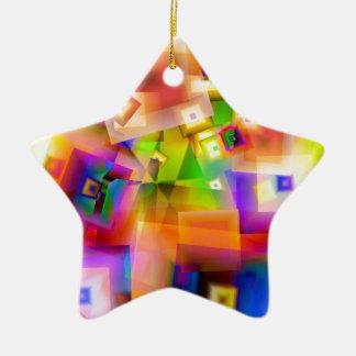Grafik-Kunst Keramik Stern-Ornament