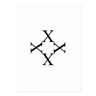 Grafik mit Alphabet X Postkarte