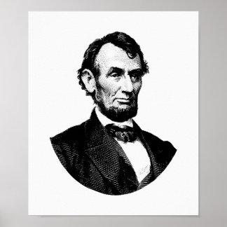 Grafik Präsidenten-Abraham Lincoln Poster