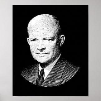 Grafik Präsidenten-Dwight Eisenhower Poster
