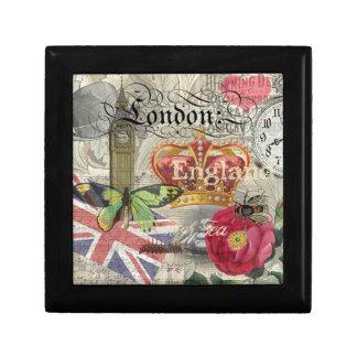 Grafik-Vintager Reise-Druck Londons England Geschenkbox