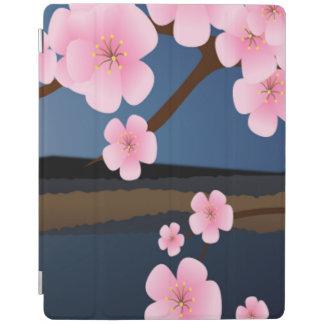 Grafikdesign der Kirschblüte iPad Hülle