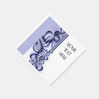 Grafikdesign-Muster - weißes Blau + Ihr Text Papierserviette