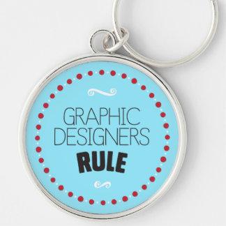 Grafikdesigner-Regel Keychain - Blau Schlüsselanhänger