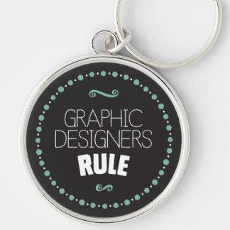 Grafikdesigner-Regel Keychain - Schwarzes Schlüsselanhänger