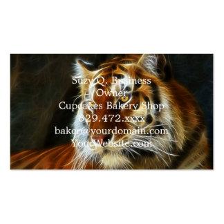 Grafiken des Tigers 3d Visitenkarten