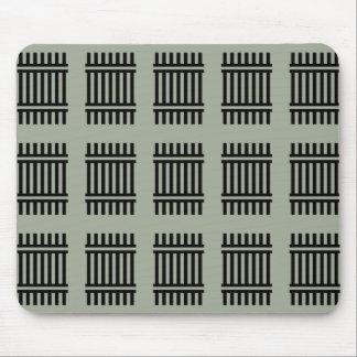 Grafische abstrakte Kunst Mousepad des schwarzen