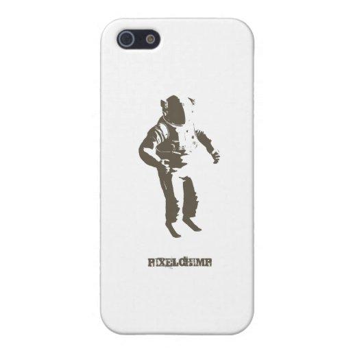 Grafische Astronauten-Schablone iPhone 5 Etui