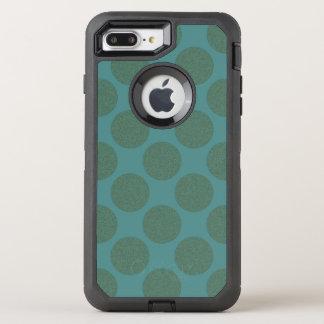 Grafische diagonale Polka-Punkte irgendeine Farbe OtterBox Defender iPhone 8 Plus/7 Plus Hülle