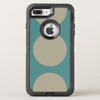 Grafische enorme Polka-Punkte irgendeine Farbe auf OtterBox Defender iPhone 8 Plus/7 Plus Hülle