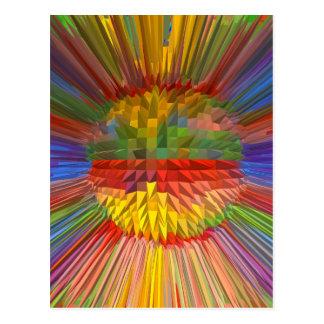 Grafische KUNST Diamant-Blumen-Digital Geschenke Postkarte