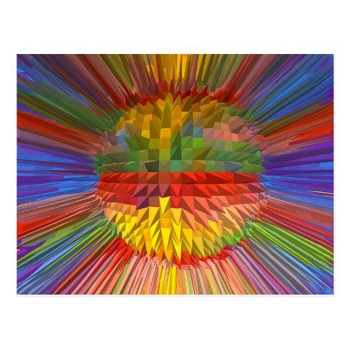 Grafische KUNST Diamant-Blumen-Digital Geschenke Postkarten