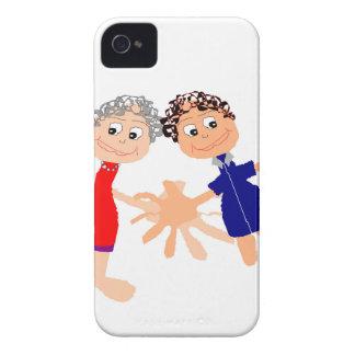 Grafische Kunst - zwei Freunde iPhone 4 Hüllen