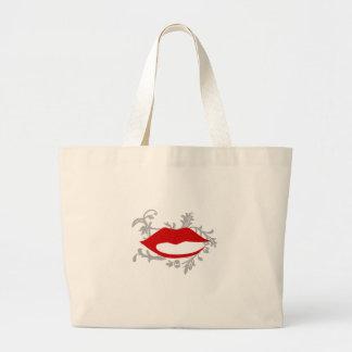 grafische Lippen Jumbo Stoffbeutel