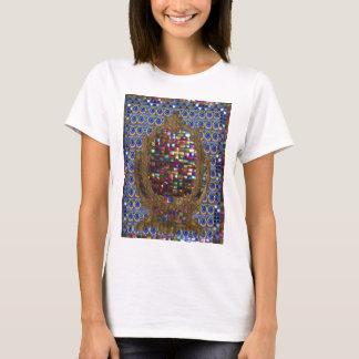 Grafische Malerei-Kristallstein-Fliesen T-Shirt