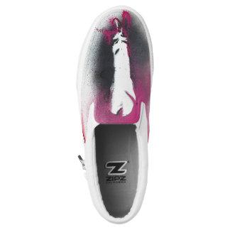 Grafische neue Feder-Turnschuhe Slip-On Sneaker