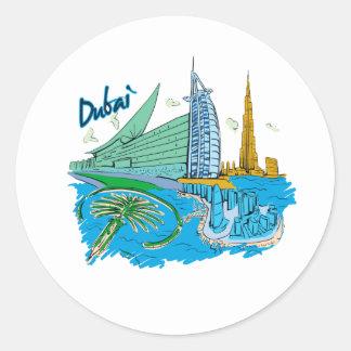 grafische Reise design.png Dubai-Stadt Sticker