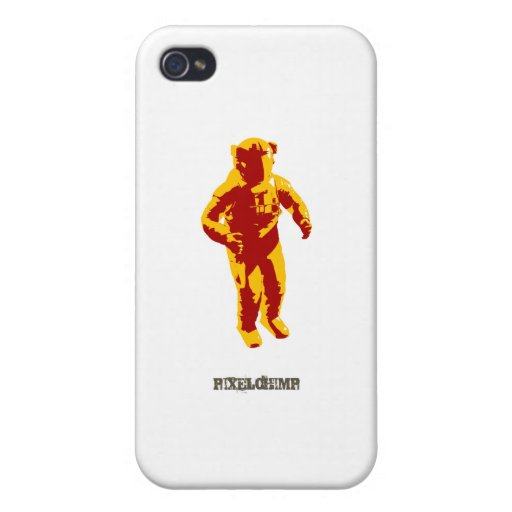 Grafischer Astronaut iPhone 4 Etui