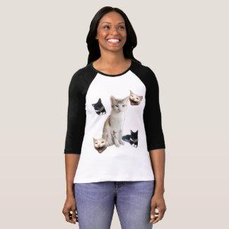 Grafischer Druck der Katze T-Shirt