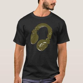 grafischer Kopfhörer DJ T-Shirt