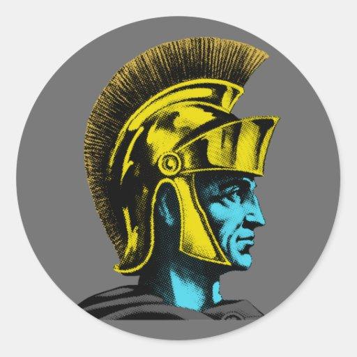 Grafischer römischer Gladiator Sticker
