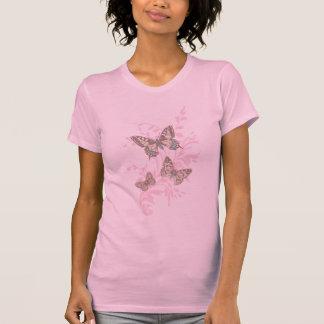 Grafischer rosa mit Tinte geschwärzter T - Shirt