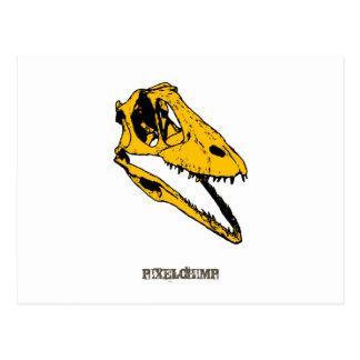 Grafischer T-Rex Schädel Postkarte
