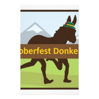 Grafischer w Hut des Donktoberfest Esel-Schlages Briefpapier