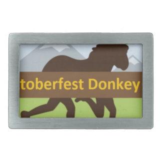 Grafischer w Hut des Donktoberfest Esel-Schlages Rechteckige Gürtelschnallen