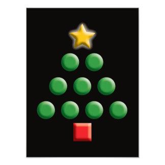 Grafischer Weihnachtsbaum Fotodruck