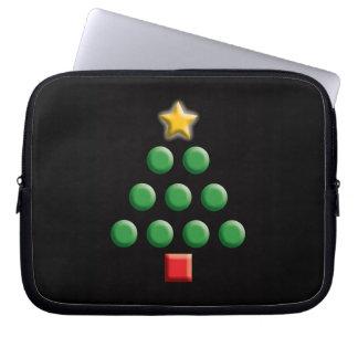 Grafischer Weihnachtsbaum Laptopschutzhülle